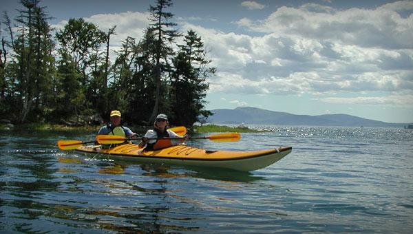 Kayaking along the Schoodic Scenic Byway